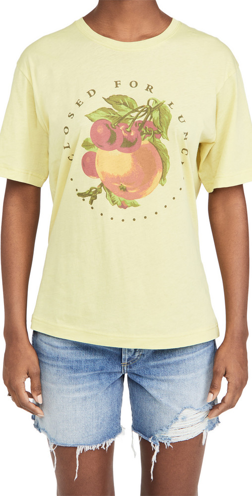 Closed Closed For Lunch Tee in mustard