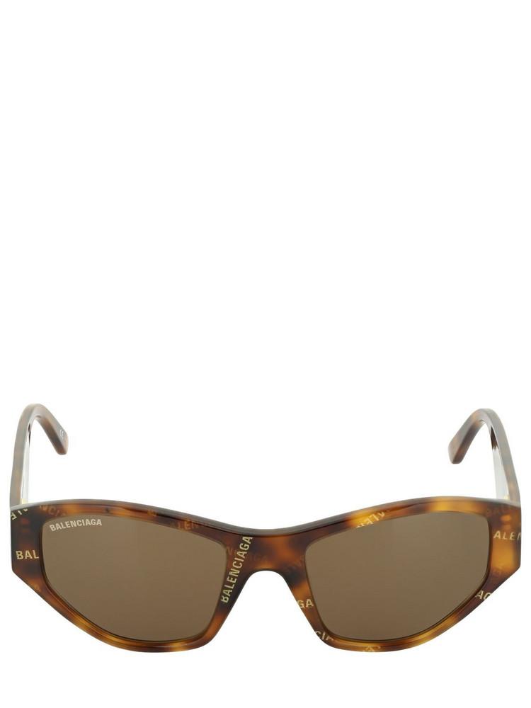BALENCIAGA Cut Cat 0097s Acetate Sunglasses in brown