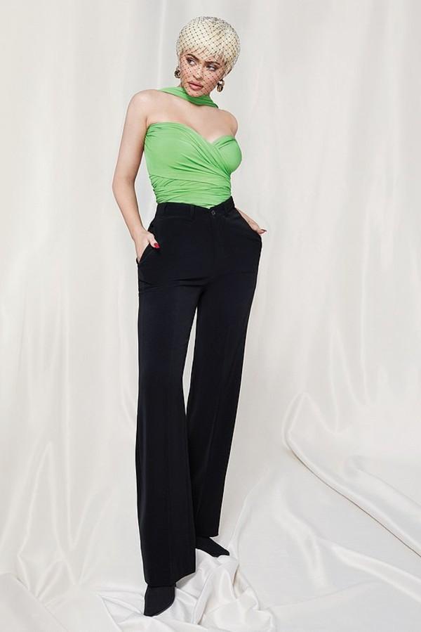 top bustier kylie jenner kardashians celebrity editorial pants