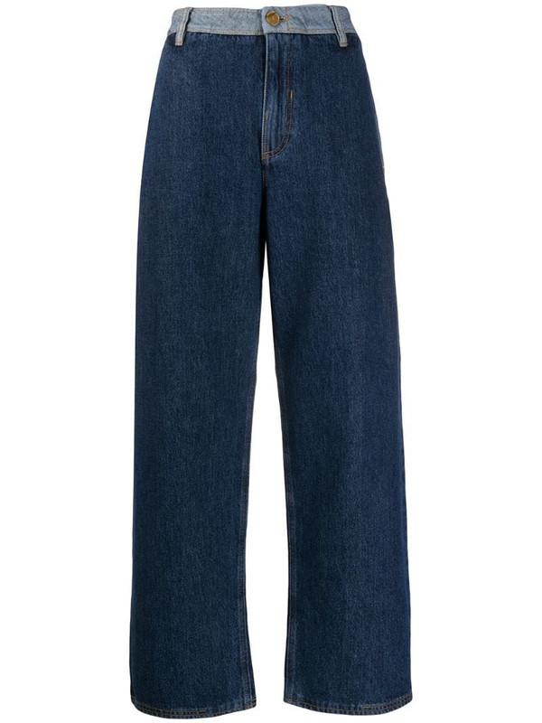 McQ Swallow wide leg jeans in blue