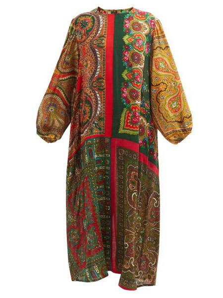 Rianna + Nina Rianna + Nina - Printed Vintage-wool Maxi Dress - Womens - Multi
