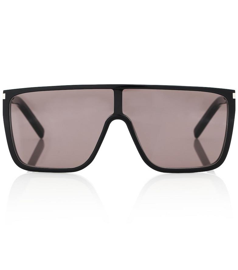 Saint Laurent SL 364 Mask flat-brow sunglasses in black