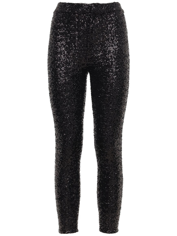 ISABEL MARANT Todiz Sequined Skinny Pants in black