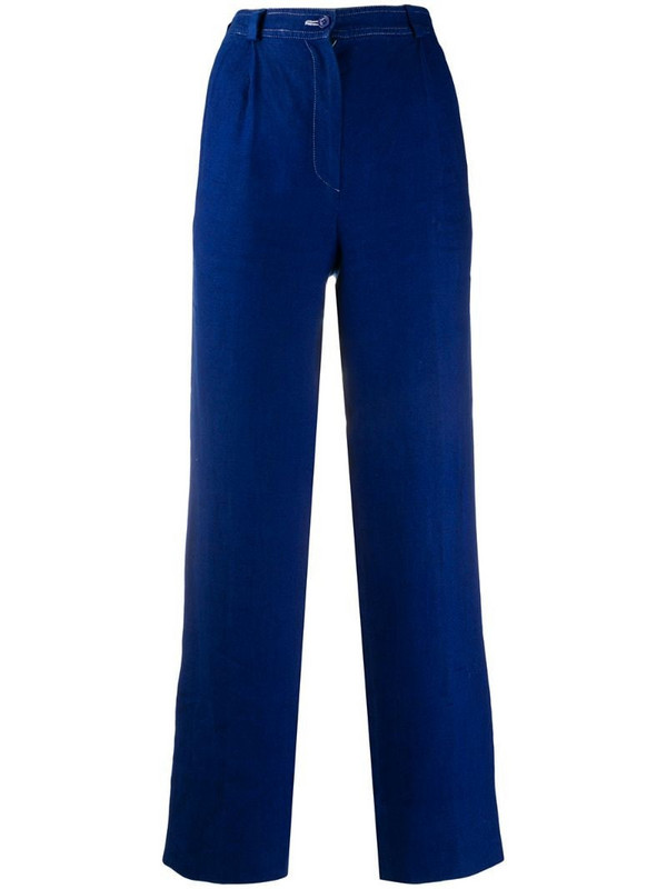 Valentino Pre-Owned 1980s high-waisted trousers in blue