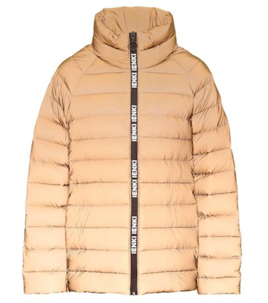 Ienki Ienki Anon puffer jacket in brown