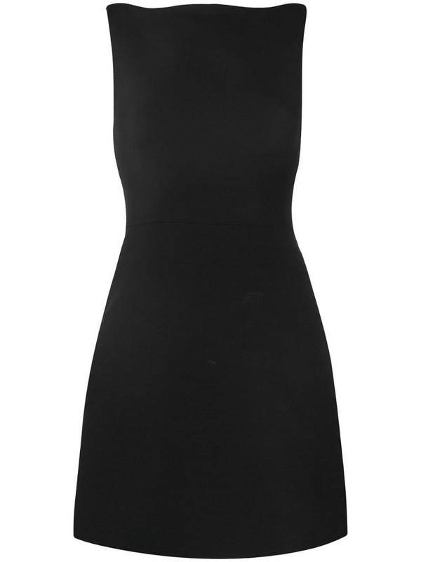 Valentino open back bow-embellished dress in black