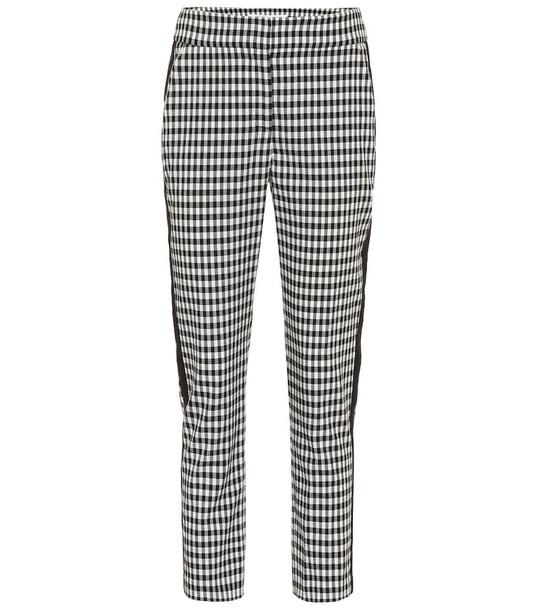 Veronica Beard Gemini checked high-rise pants in black