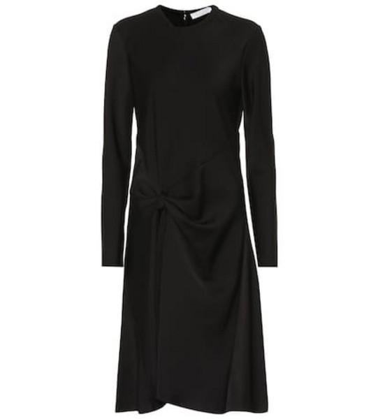 Chloé Satin crêpe dress in black
