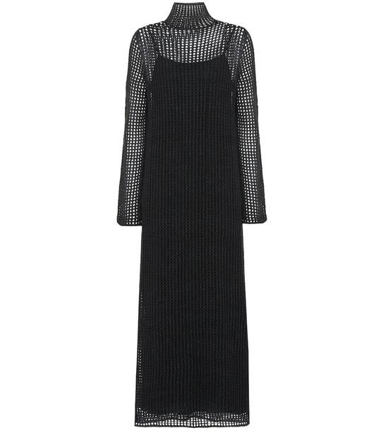 The Row Dieter silk maxi dress in black