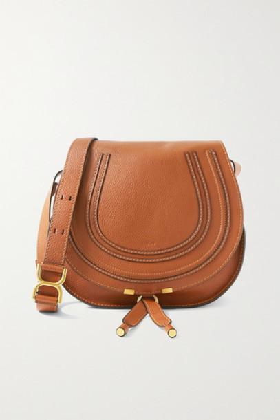 Chloé Chloé - Marcie Medium Textured-leather Shoulder Bag - Tan