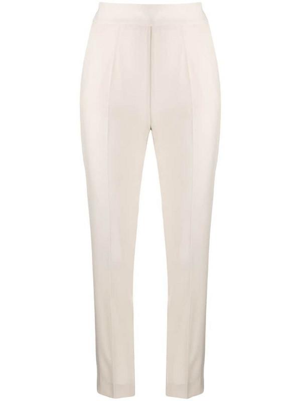 Christian Pellizzari cropped skinny-fit trousers in neutrals