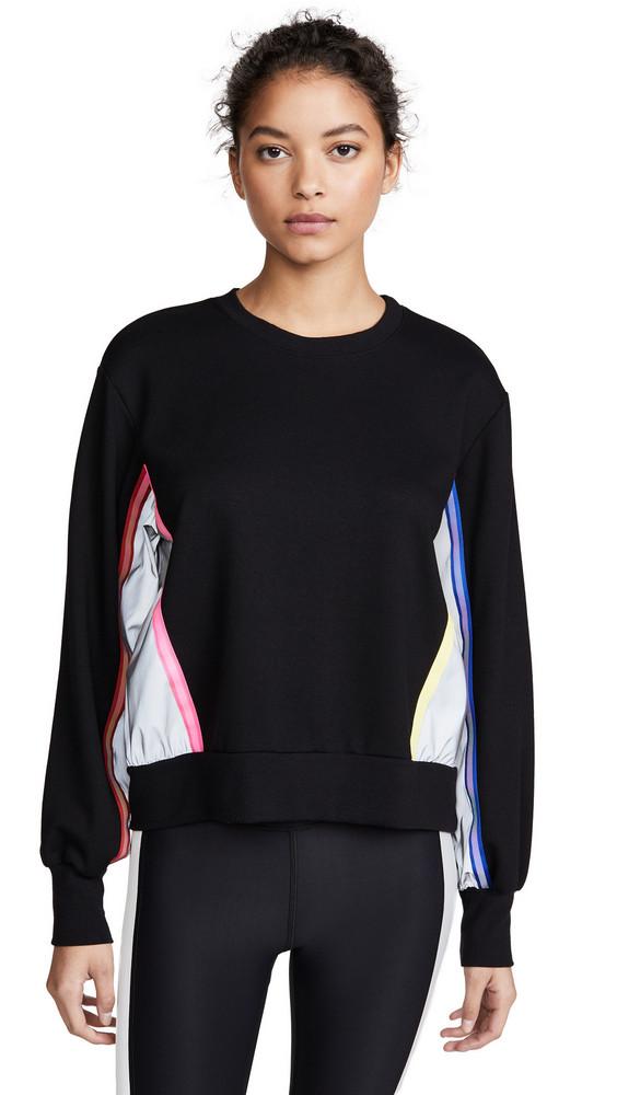 Terez Sweatshirt with Reflective Trim in black