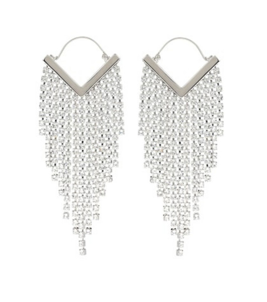 Isabel Marant Freak O Giant crystal earrings in silver