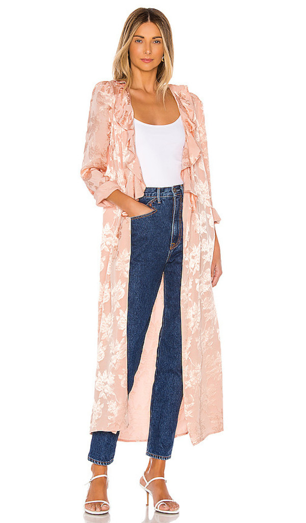 Lovers + Friends Lovers + Friends Jayden Trench in Pink