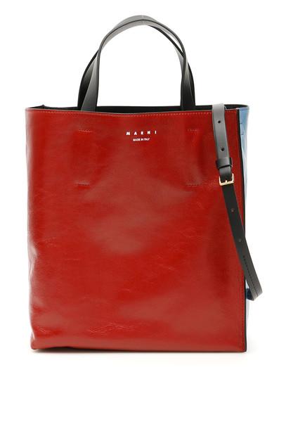 Marni Bicolor Museo Tote Bag in black / red