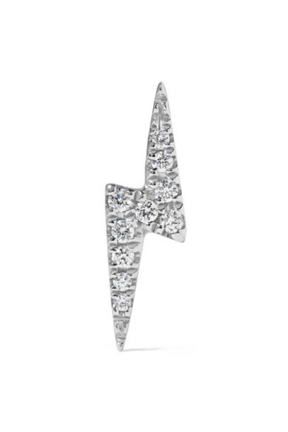 Maria Tash - 18-karat White Gold Diamond Earring