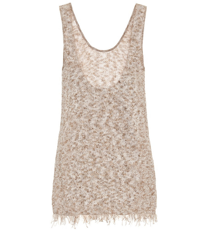 Alanui Exclusive to Mytheresa – Cotton-blend tank top in brown