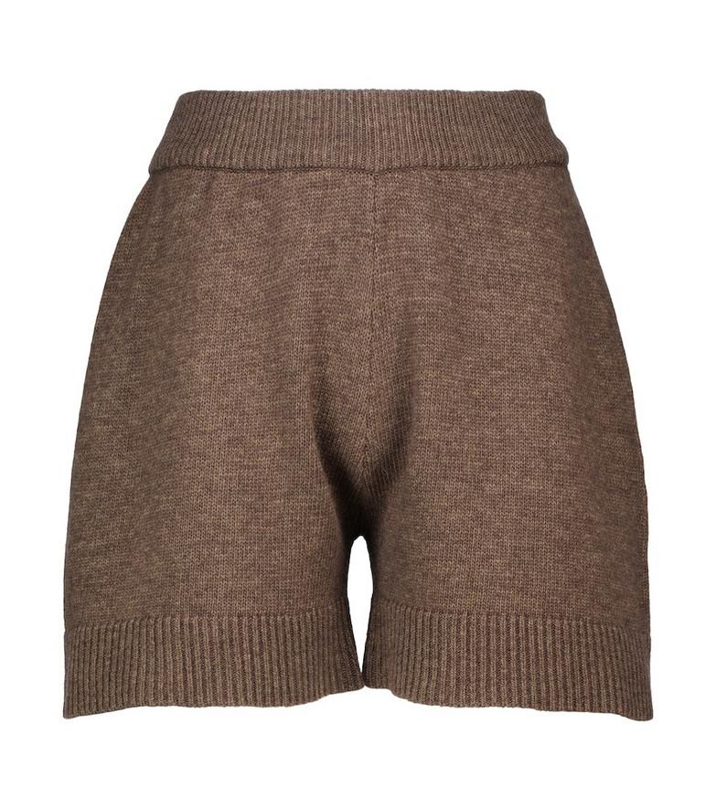 Frankie Shop Juno wool-blend shorts in brown