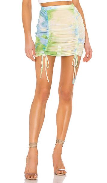 superdown Jillian Ruched Beach Skirt in Green