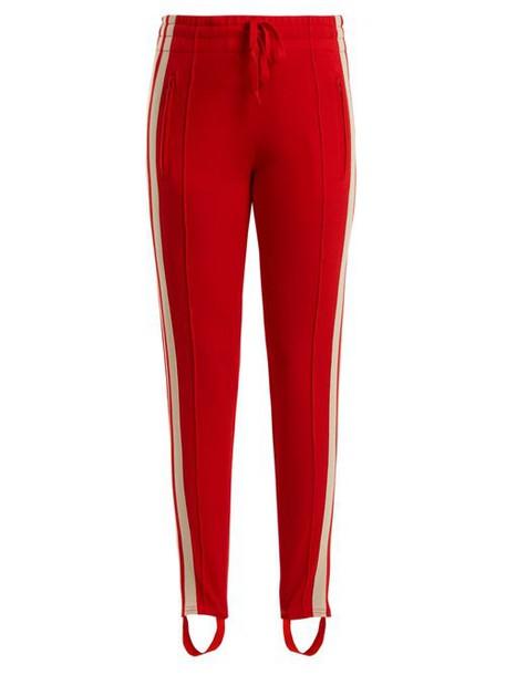Isabel Marant Étoile - Doriann Stripe Trimmed Track Pants - Womens - Red