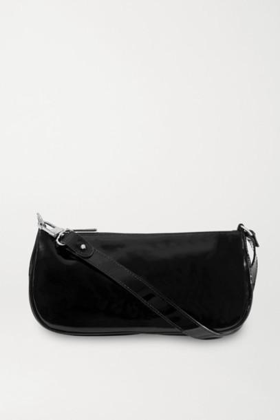 BY FAR - Rachel Patent-leather Shoulder Bag - Black