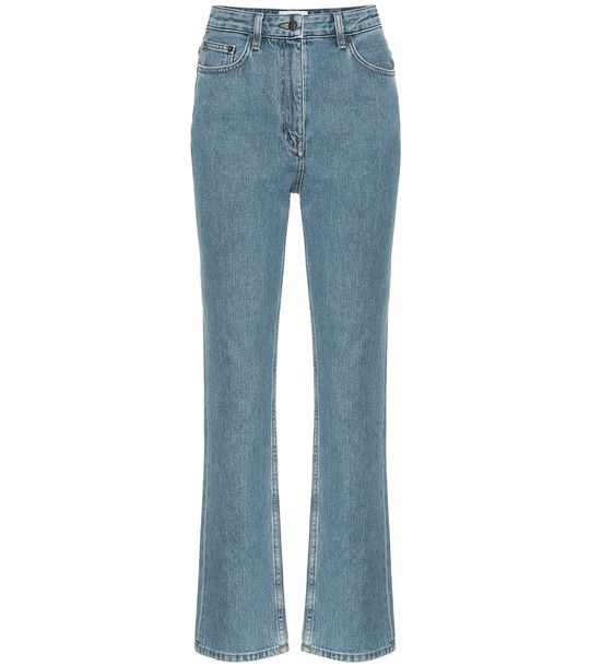 The Row Charlee high-rise cropped jeans in blue