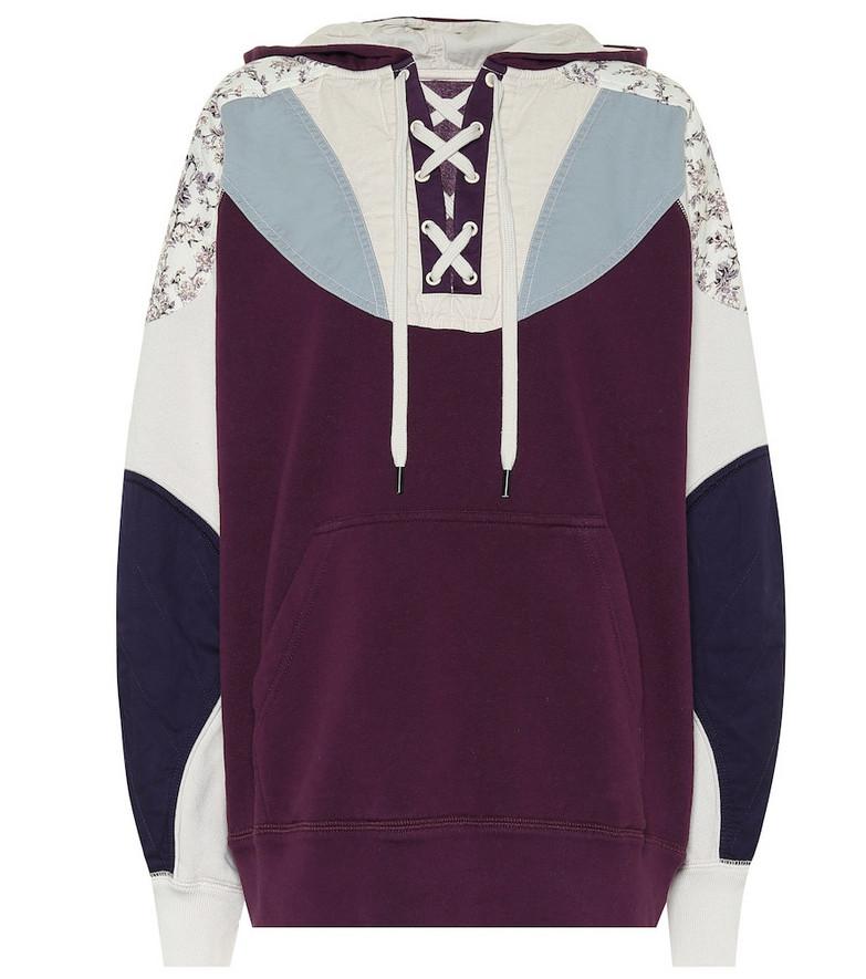 Isabel Marant, Étoile Nanslyia cotton-blend hoodie in purple