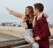 jacket,denim,jeans,dusty pink,jojo fletcher,celebrity,instagram