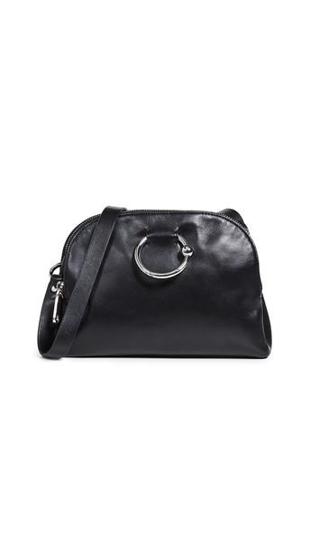 Rebecca Minkoff Kate Double Zip Crossbody Bag in black