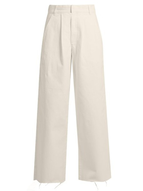 Raey - Wide Leg Jeans - Womens - Light Grey