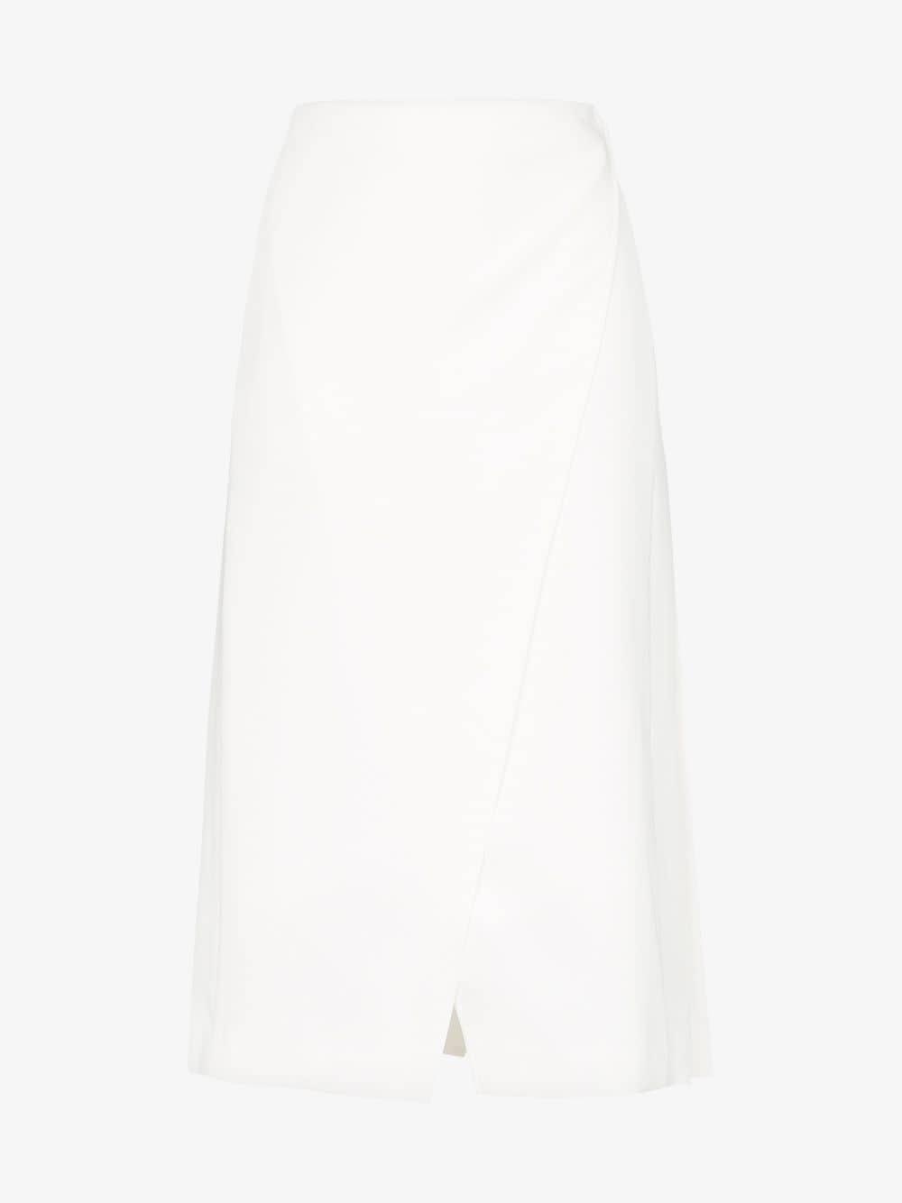 Beaufille Kari pleated midi skirt in white