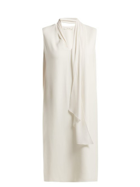 The Row - Flynn Neck Tie Cady Dress - Womens - Ivory