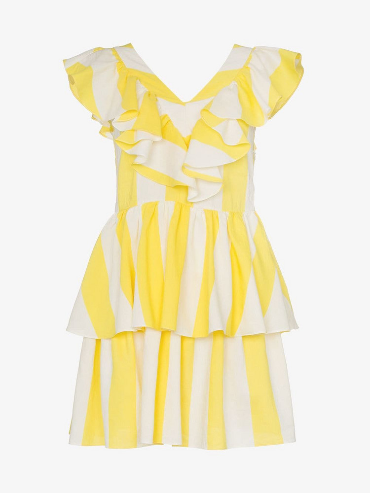 Paper London St Lucia Striped Dress in yellow