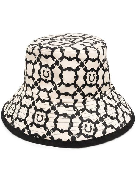 Salvatore Ferragamo Gancini pattern bucket hat in neutrals