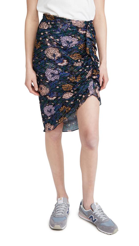 Veronica Beard Hazel Skirt in black / multi