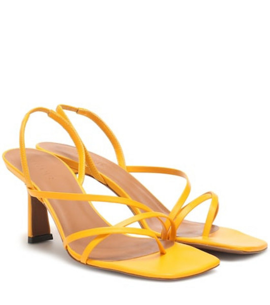 Neous Exclusive to Mytheresa – Esmeralda leather sandals in yellow