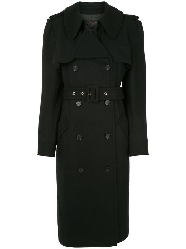 Karen Walker Magmatic belted trench coat in black
