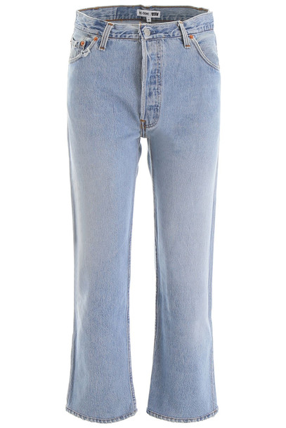 RE/DONE High-waisted Jeans in blue