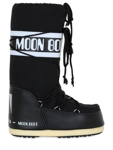 MOON BOOT Classic Nylon Waterproof Snow Boots in black