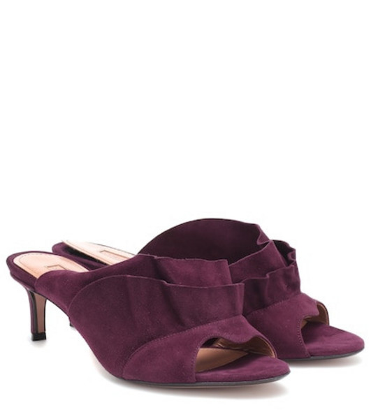 Samuele Failli Chelsie 55 suede mules in purple