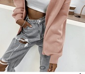 jeans,light grey baggy distressed jeans