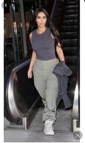 pants,kim kardashian,windbreaker,sweatpants