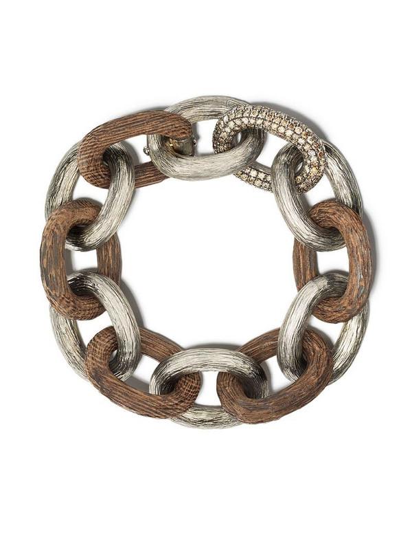 Selim Mouzannar diamond Link bracelet in silver