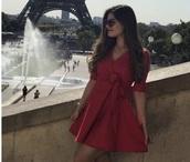 dress,red dress,mini dress