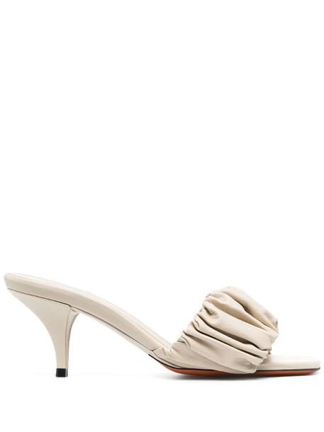 Santoni leather sandals in neutrals