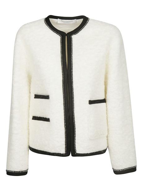 Philosophy di Lorenzo Serafini Embellished Jacket in bianco