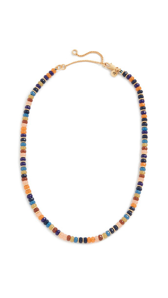 Madewell Beaded Disc Choker Necklace in multi