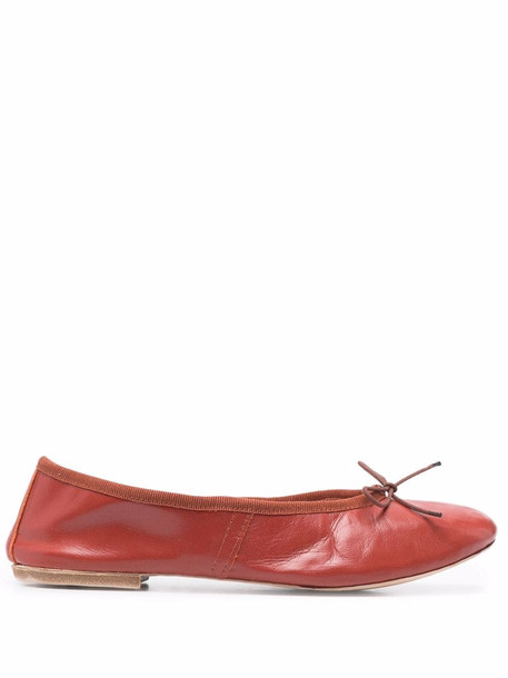 A.P.C. A.P.C. bow-embellished ballerina flats - Red