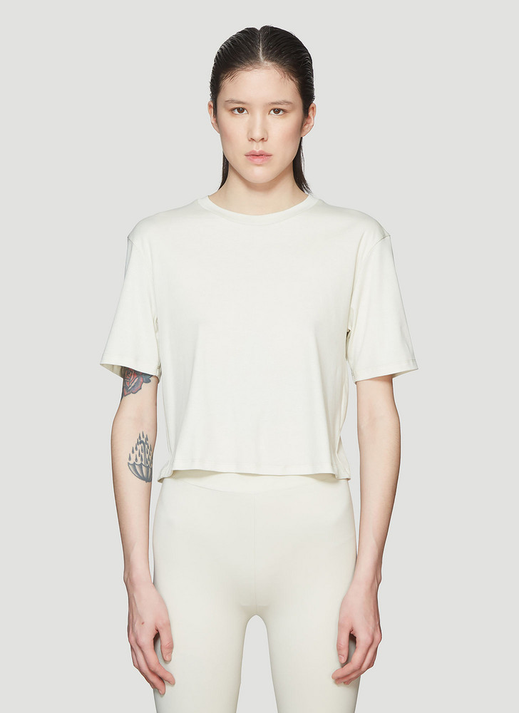 Roni Ilan Cropped T-Shirt size S in beige
