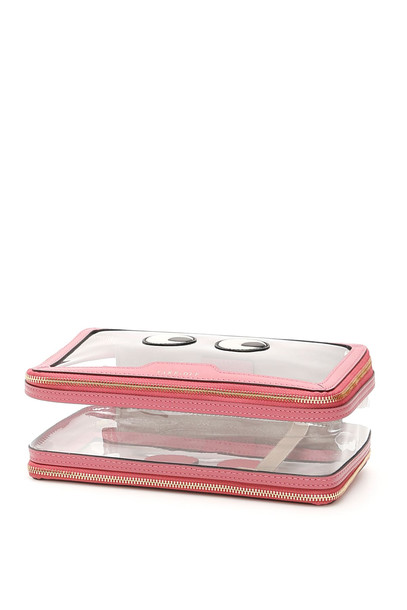 Anya Hindmarch Travel Pouch in pink / clear